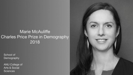 Charles Price Prize in Demography awarded to Marie McAuliffe