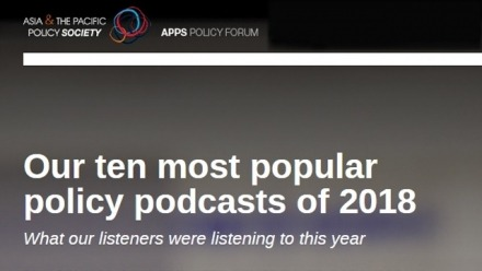Denise Fisher 3rd most popular podcast on Asia & the Pacific Society's Policy Forum