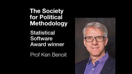 Prof Ken Benoit and team win the Statistical Software Award